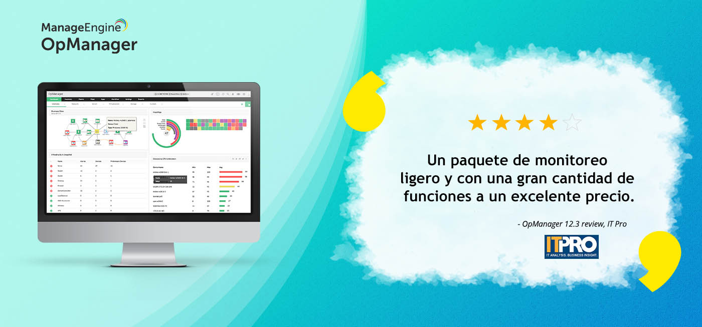 OpManager 12.3 recibe el premio IT Pro Recommended